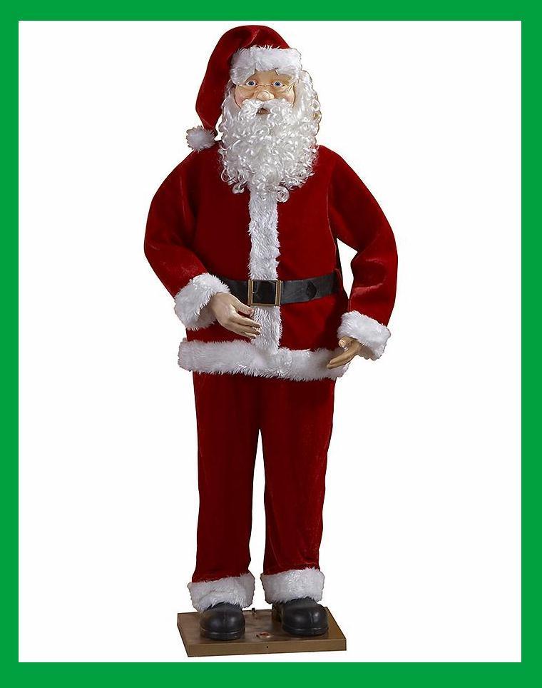 Singing dancing animated 6ft santa claus christmas decor for 4 foot santa claus decoration