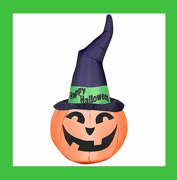 42 quot airblown inflatable lighted witch hat pumpkin halloween yard