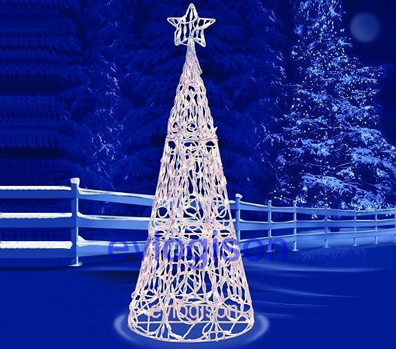 5 Ft Cone Lighted 3 D Christmas Tree With 175 Twinkling
