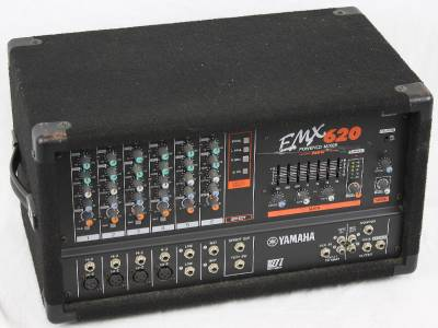 Yamaha emx 620 emx620 6 channel 200w powered mixer pa for Yamaha power amp mixer
