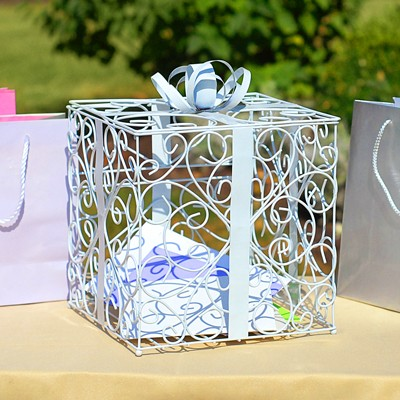Wedding Reception Gift Card Box Holder in Silver, Black, or White ...