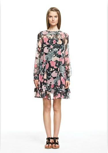 2012-NEW-See-by-chloe-Floral-Print-BUTTON-BACK-silk-chiffon-dress-I40-us-4