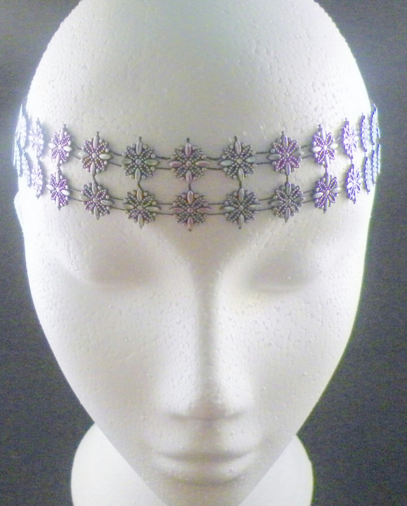 Ladies-or-girls-elastic-head-band-black-and-silver-decoration-7-design-choices