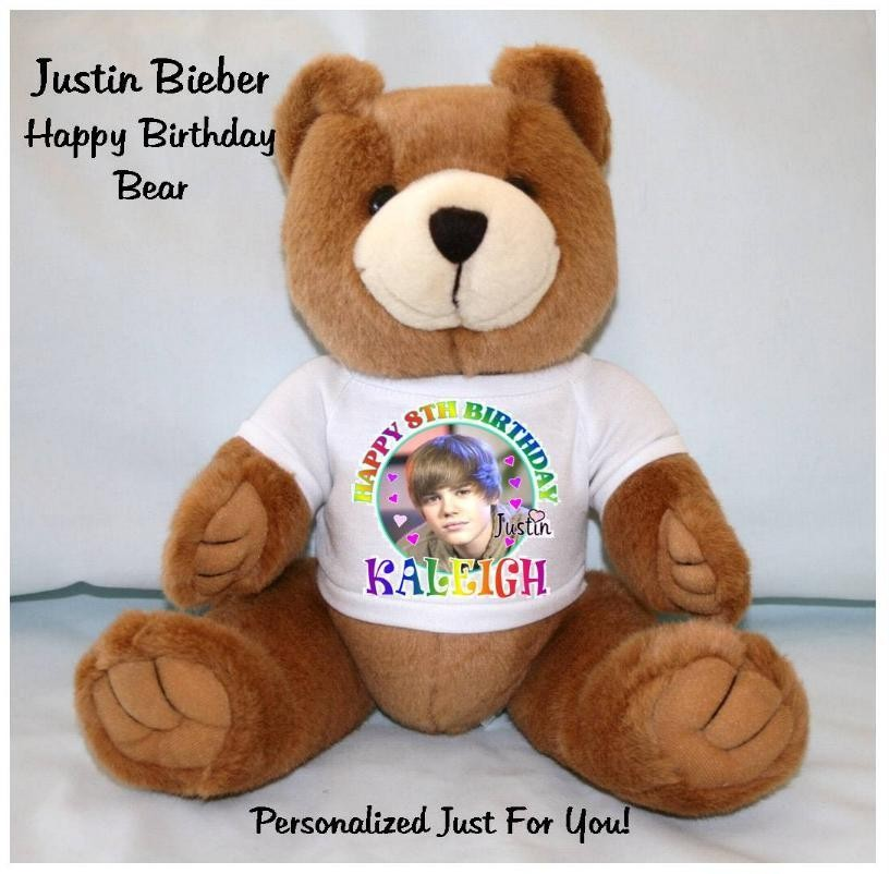 Justin Bieber Personalized Birthday Teddy Bears