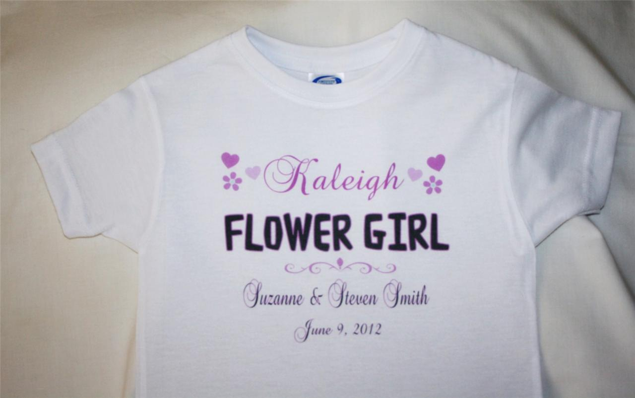 Personalized-FLOWER-GIRL-T-SHIRT-Customized-Wedding-Gift