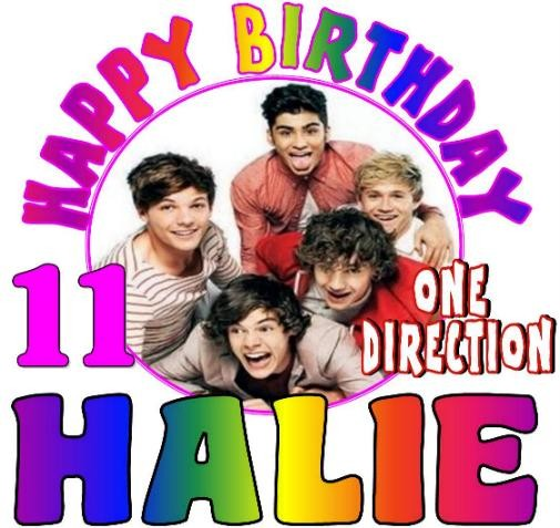 ONE DIRECTION BIRTHDAY T-SHIRT #1A Personalized Any Name ...