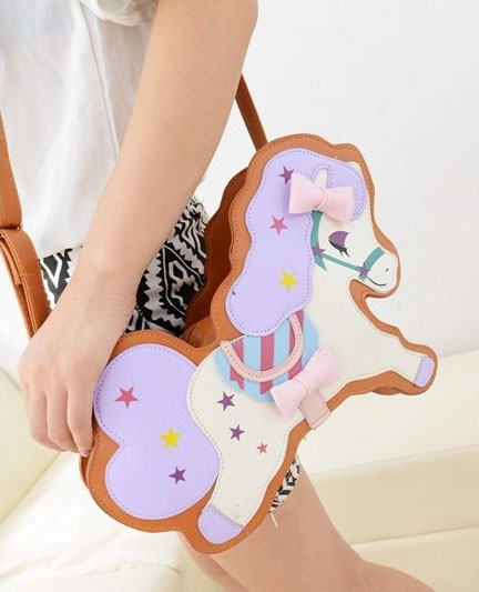 UBER CUTE HARAJUKU KAWAII PASTEL PONY HORSE BAG