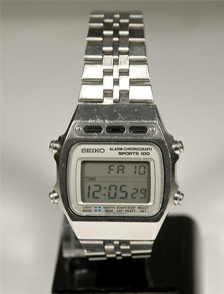 vintage 1980 seiko lcd digital model a359 5040