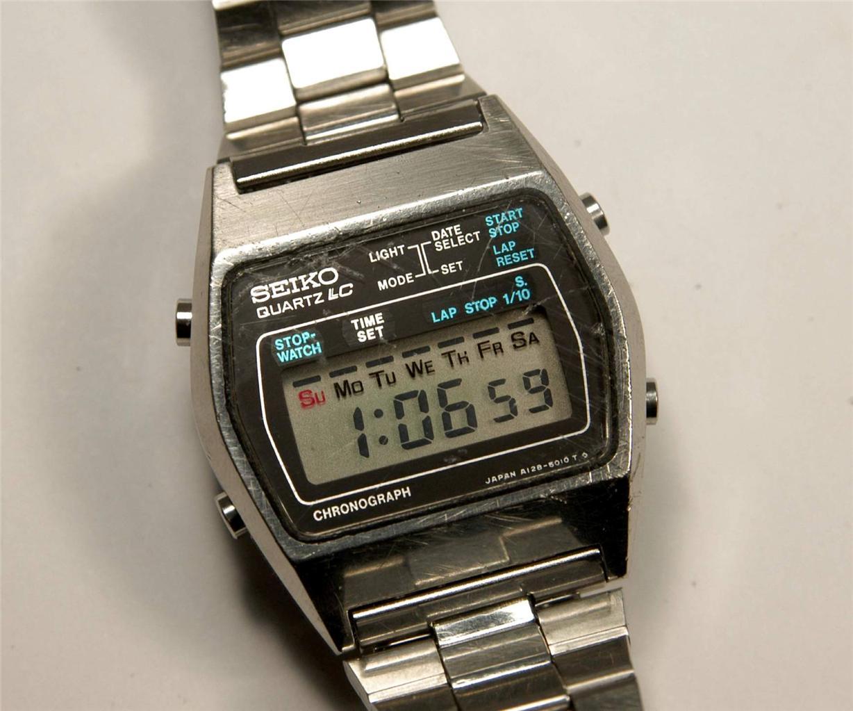 vintage seiko chronograph lcd digital model a128