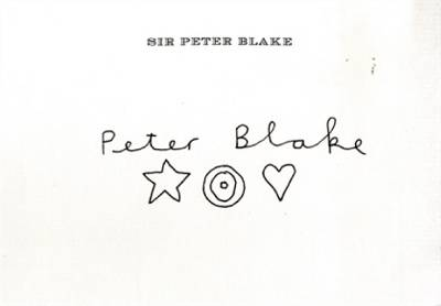 peter blake unique signed original drawing on his private