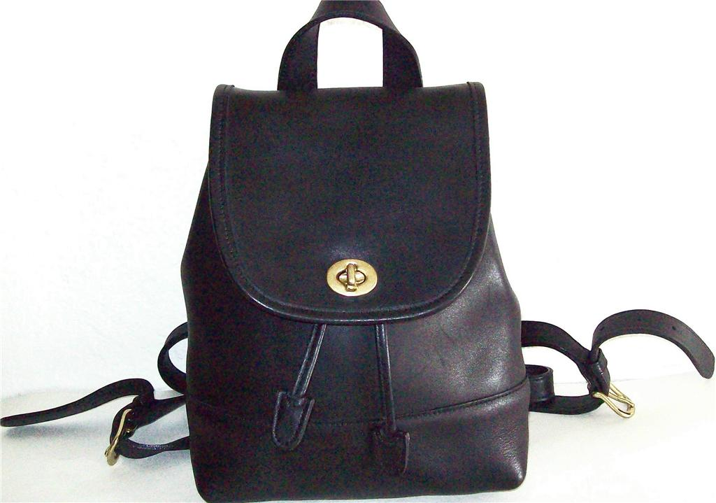 Back Purse : ... Leather COACH purse daypack Backpack vintage back pack 9960 eBay