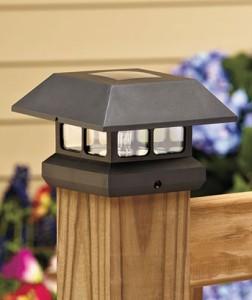 6 Square Solar Power Decking Porch 4 X 4 Post Light Cap Outdoor Lightin