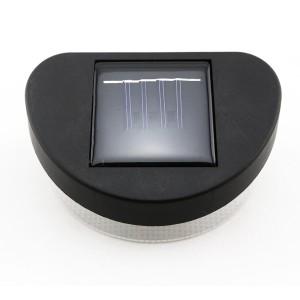 set of 2 solar powered fence path lights outdoor led. Black Bedroom Furniture Sets. Home Design Ideas