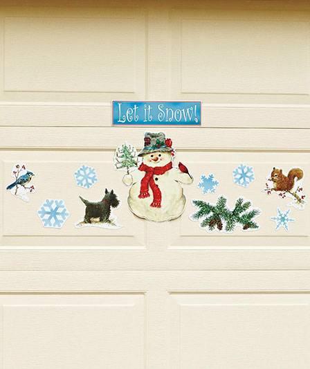 *NEW* Let It Snow! Seasonal Garage Door Magnets