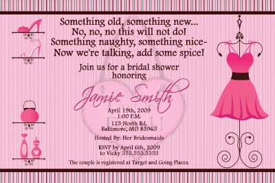 Personalized Naughty Bridal Shower Invitation