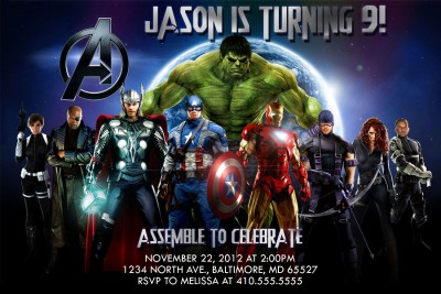 Avengers Invitations Template