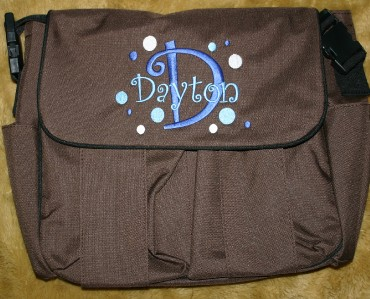 personalized diaper bag twins boy girl 2 free hat ebay. Black Bedroom Furniture Sets. Home Design Ideas