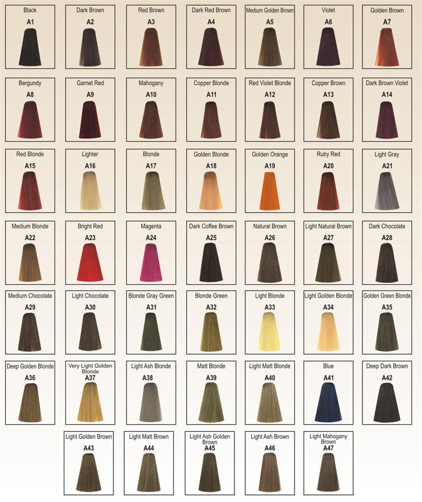 Berina Hair Colour permanent cream hair dye 30 colors