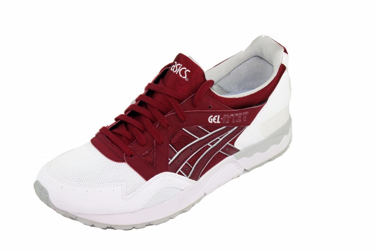 asics gel lyte v white burgundy. Black Bedroom Furniture Sets. Home Design Ideas