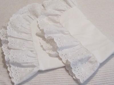 1 WHITE EYELET RUFFLED STANDARD PILLOW SHAM~Shabby~Cottage~Chic~Country eBay