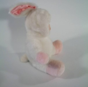 Porcelain Baby Doll in a Bunny Costume Rabbit Plush 9