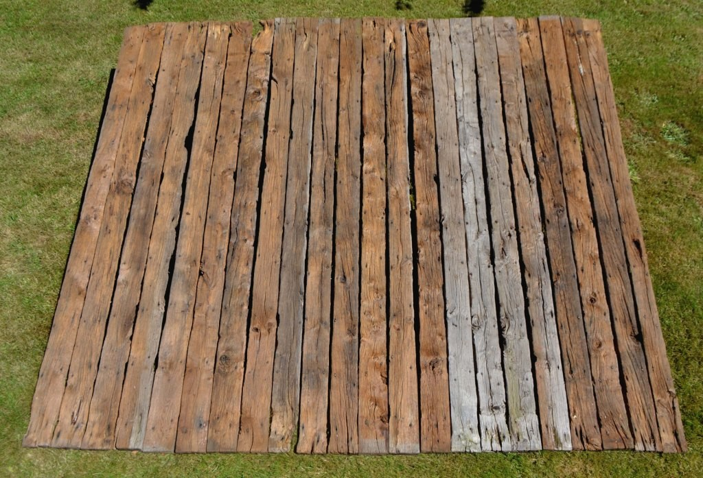 12 Foot Long Antique Timbers From An Old French Bridge