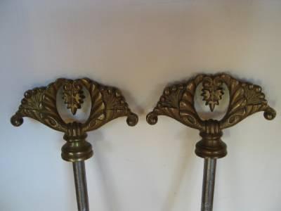 Antique Cheval Mirror Mounts Brass Hardware Bolts Screws