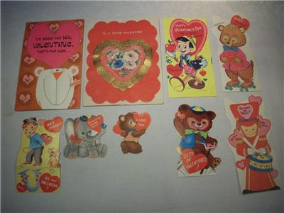 Vintage valentine card lot of 8 walt disney hallmark usa Hallmark usa