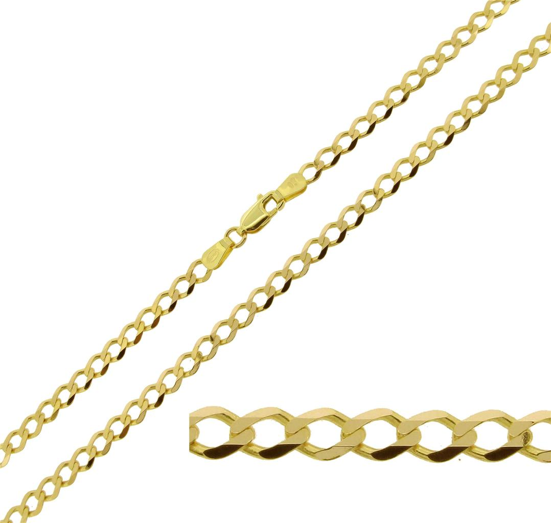 375 solid 9ct white yellow gold 14 16 18 20 22 24 26 - 375 gold ...