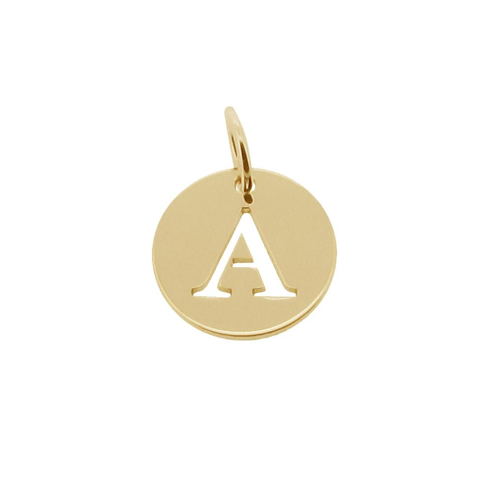 9ct gold plated personalised cut out any initial pendant a z disc image is loading 9ct gold plated personalised cut out any initial aloadofball Gallery