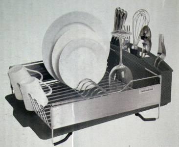 Kitchenaid Dish Drying Rack 3 Piece Black Dish Drainer New Ebay