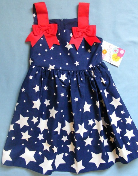 Girls sundress 4th of july holiday dress red white blue 2t 3t 4t new