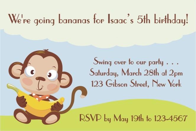 40th Birthday Ideas Monkey Invitation Templates Free