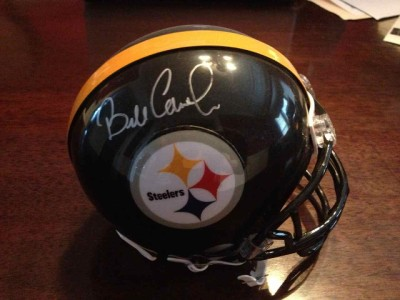 Bill Cowher AUTOGRAPHED SIGNED Pittsburgh Steelers MINI HELMET   COA