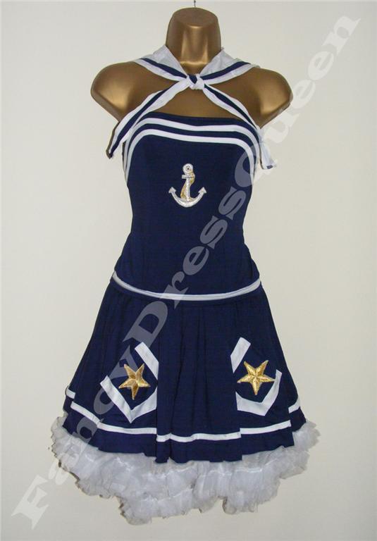 Navy Sailor Fancy Dress Costume Size 8-12