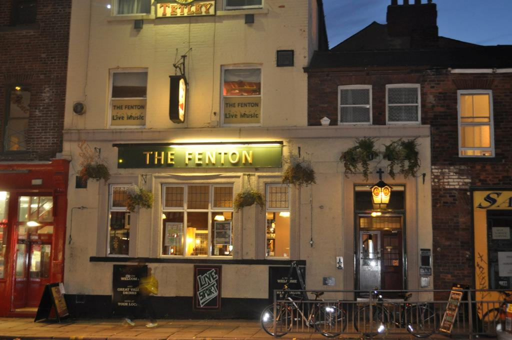 The Fenton Pub on wodhouse lane