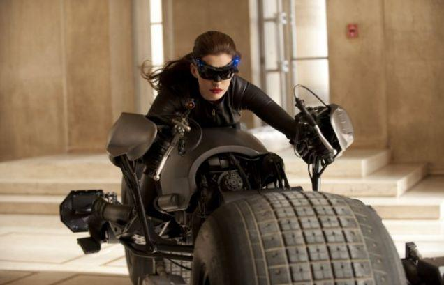 Official Anne Hathaway catwoman costume picture release from the Dark Knight Rises set