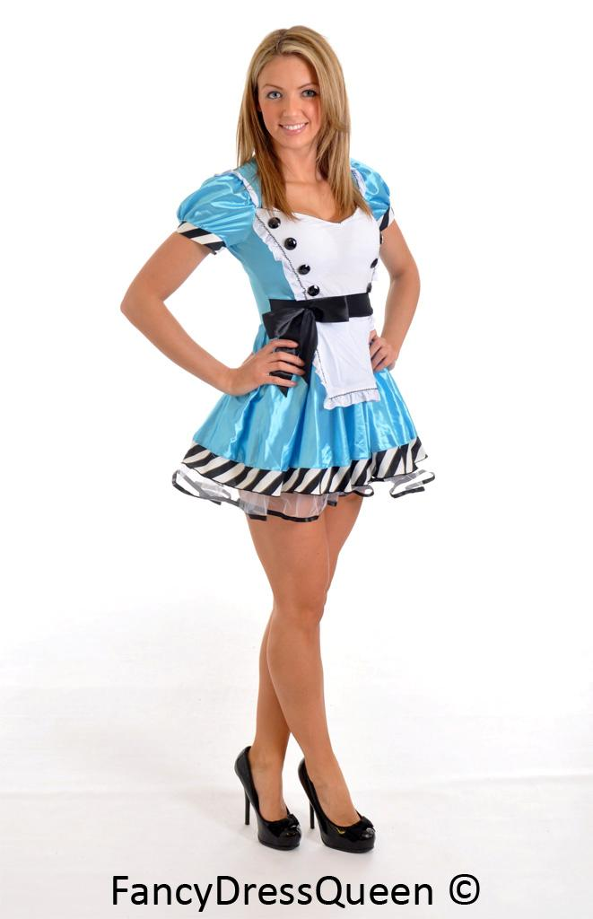 Alice in Wonderland Costume Girl Outfit Size 8/10