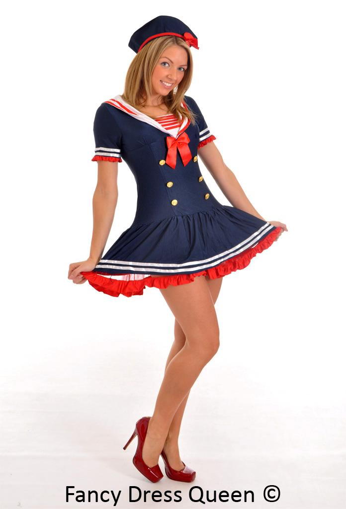 Womens Royal Blue/Black/Navy Sailor Fancy Dress Costume Girl Outfit: www.ebay.co.uk/itm/Womens-Navy-Sailor-Fancy-Dress-Costume-Girl...
