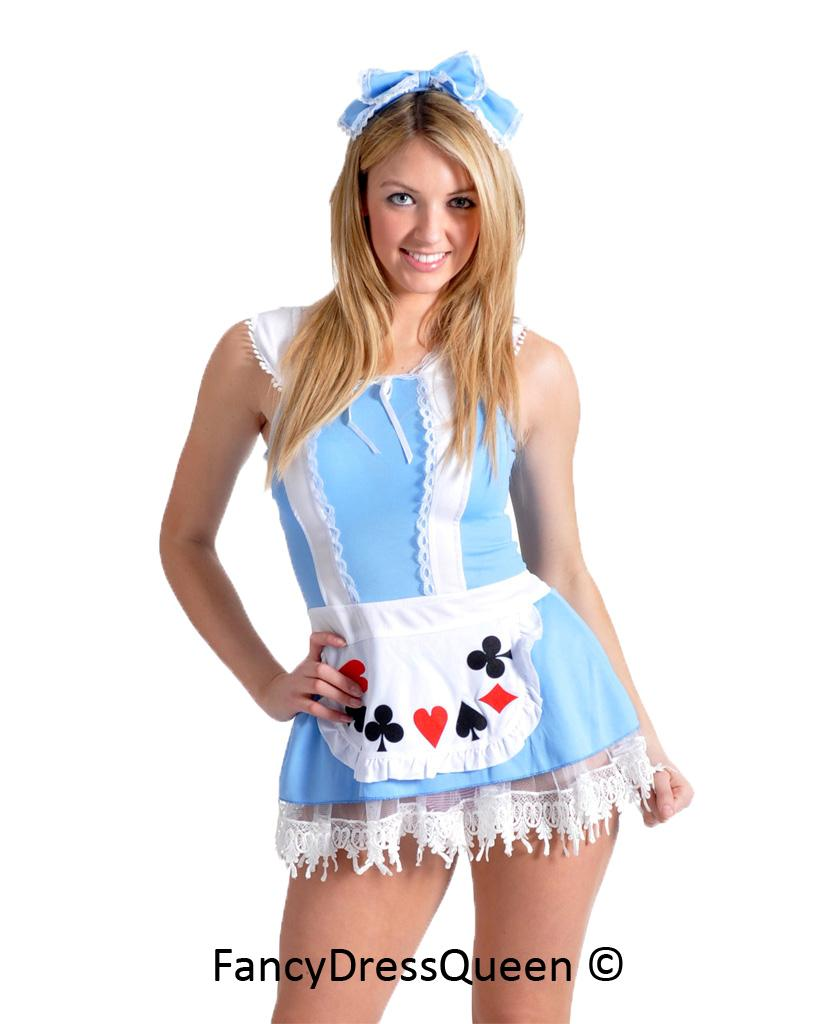 Sexy Alice in Wonderland Fancy Dress Costume Size 8/10/12