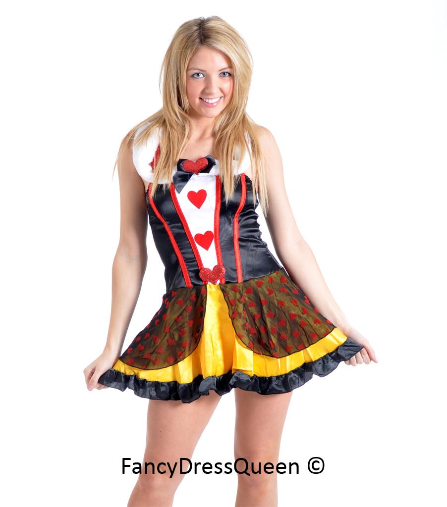 Sexy Queen of Hearts Fancy Dress Costume Outfit 8/10