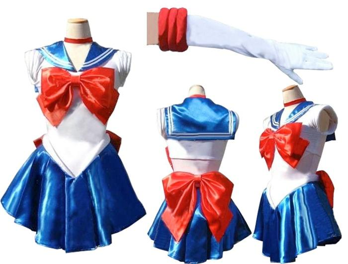 damen sexy verkleidung sailor mars kost m cosplay sailor moon in s m l xl xxl. Black Bedroom Furniture Sets. Home Design Ideas