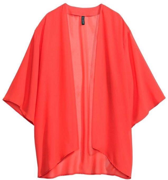 H&M LOVES MUSIC Coral Red Chiffon Bikini Kaftan Beach ...