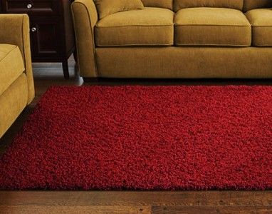 New Shag Plush Area Rug In Cranberry Red 8 X 10 Bound