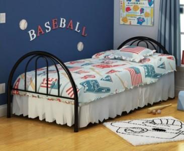 twin size black platform metal bed frame head footboard no box spring needed ebay. Black Bedroom Furniture Sets. Home Design Ideas
