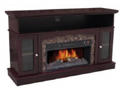 Electric Fireplace Heater Tv Console Stand With 52 Mantel 4500 Btu Ships Free