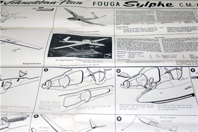 Very Rare Graupner Fouga Sylphe Jet Model Airplane Kit EBay