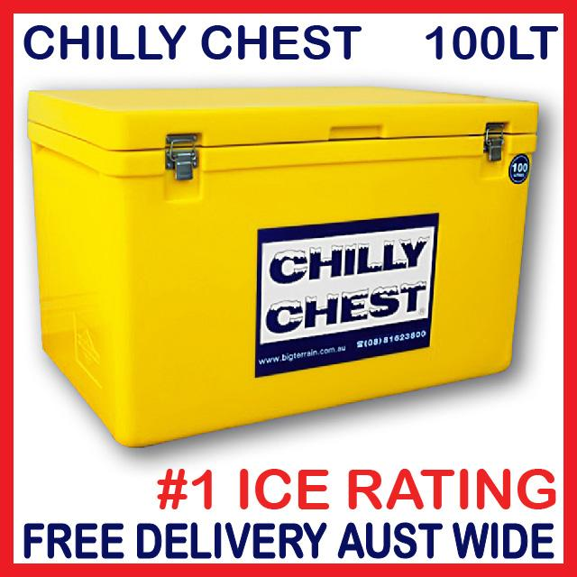 ICE-BOX-ESKY-COOLER-CHILLY-CHEST-BIN-NEW-100LT-YELLOW