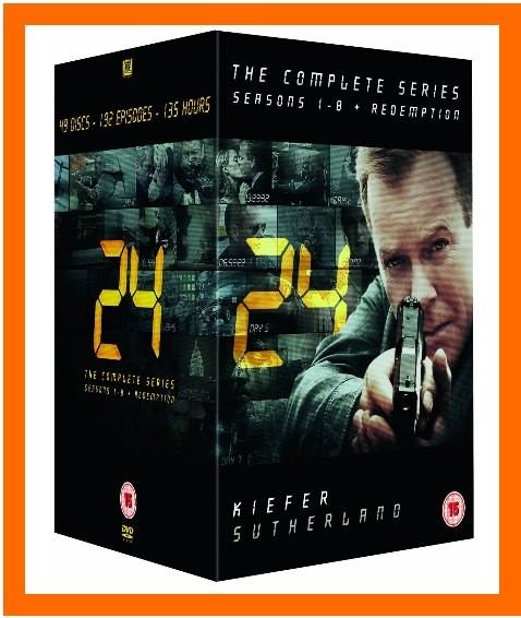 24-COMPLETE-DVD-SERIES-SEASONS-1-2-3-4-5-6-7-8-REDEMPTION-BRAND-NEW