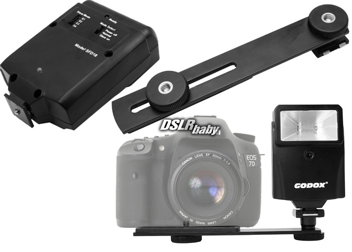 Details about Digital Slave Flash + Hot Shoe Bracket For Canon Nikon